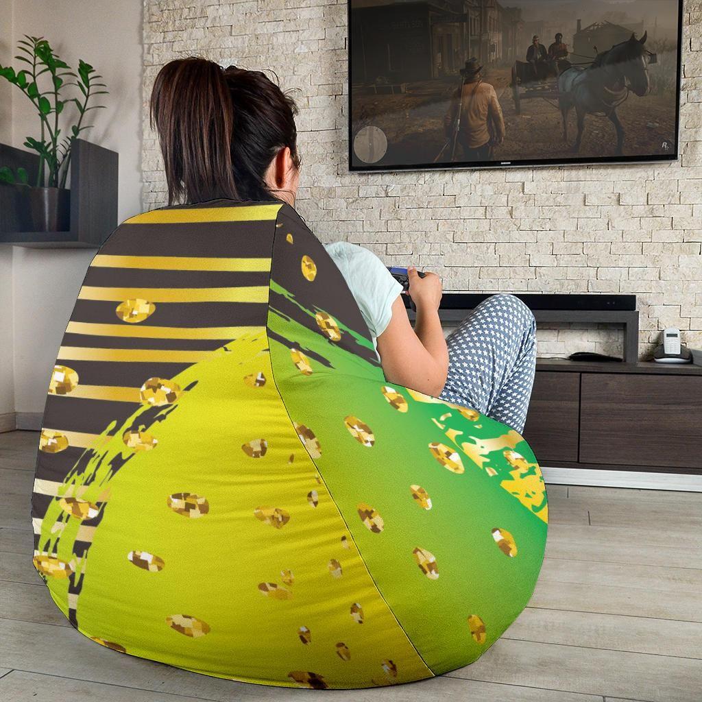 Stupendous Energizing Neon Dots Bean Bag Chair Bean Bag Chair V Roku 2019 Machost Co Dining Chair Design Ideas Machostcouk