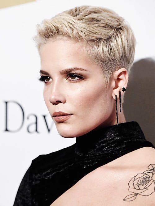 Blonde Kurzhaarfrisuren Styling Produkte Halsey Hair Styles