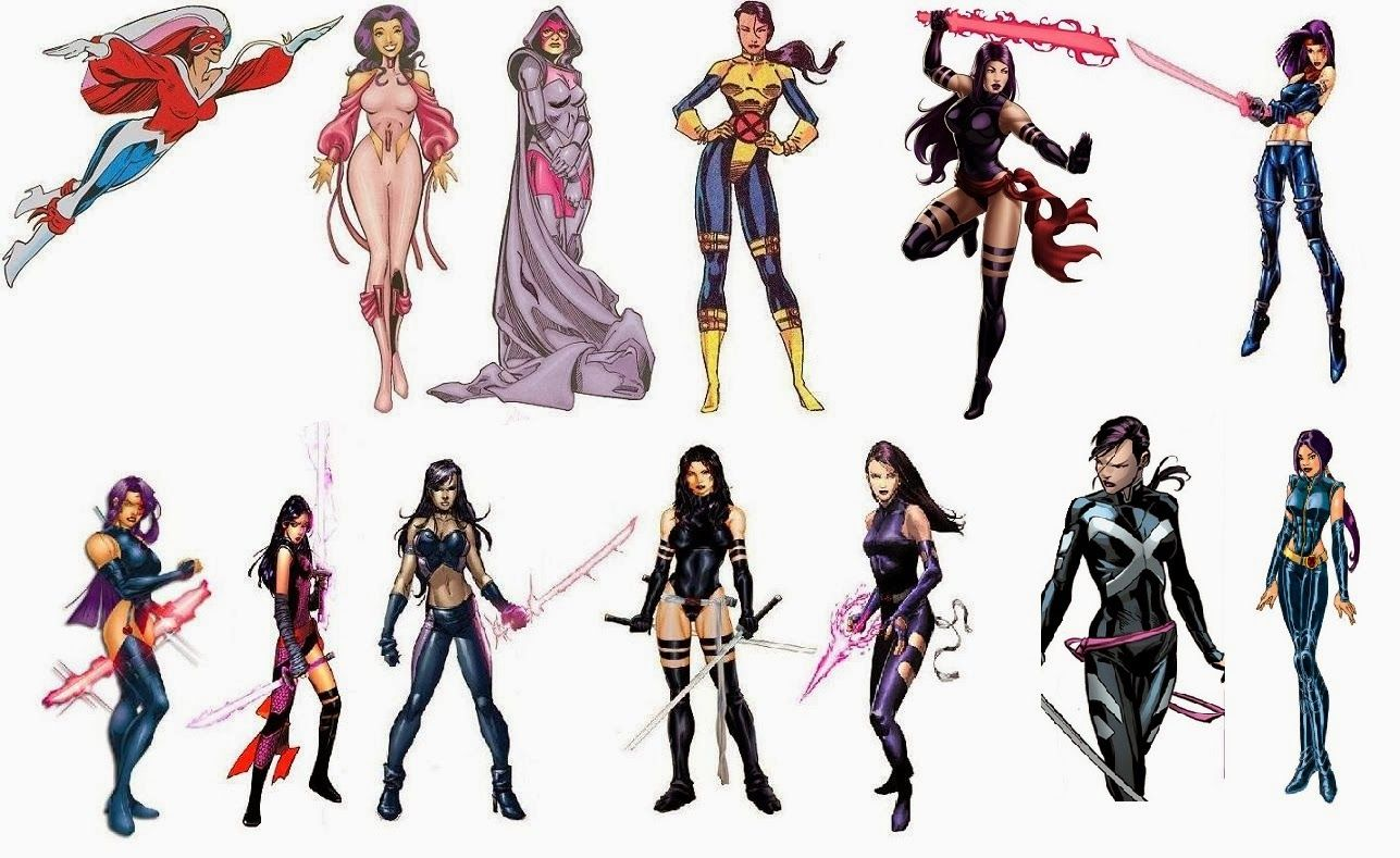 One Of The Best Ways To Get A Strong Sense Of How Tastes Within The Comic Book Industry Have Changed Over The Years Is Psylocke Marvel Costumes Superhero Comic
