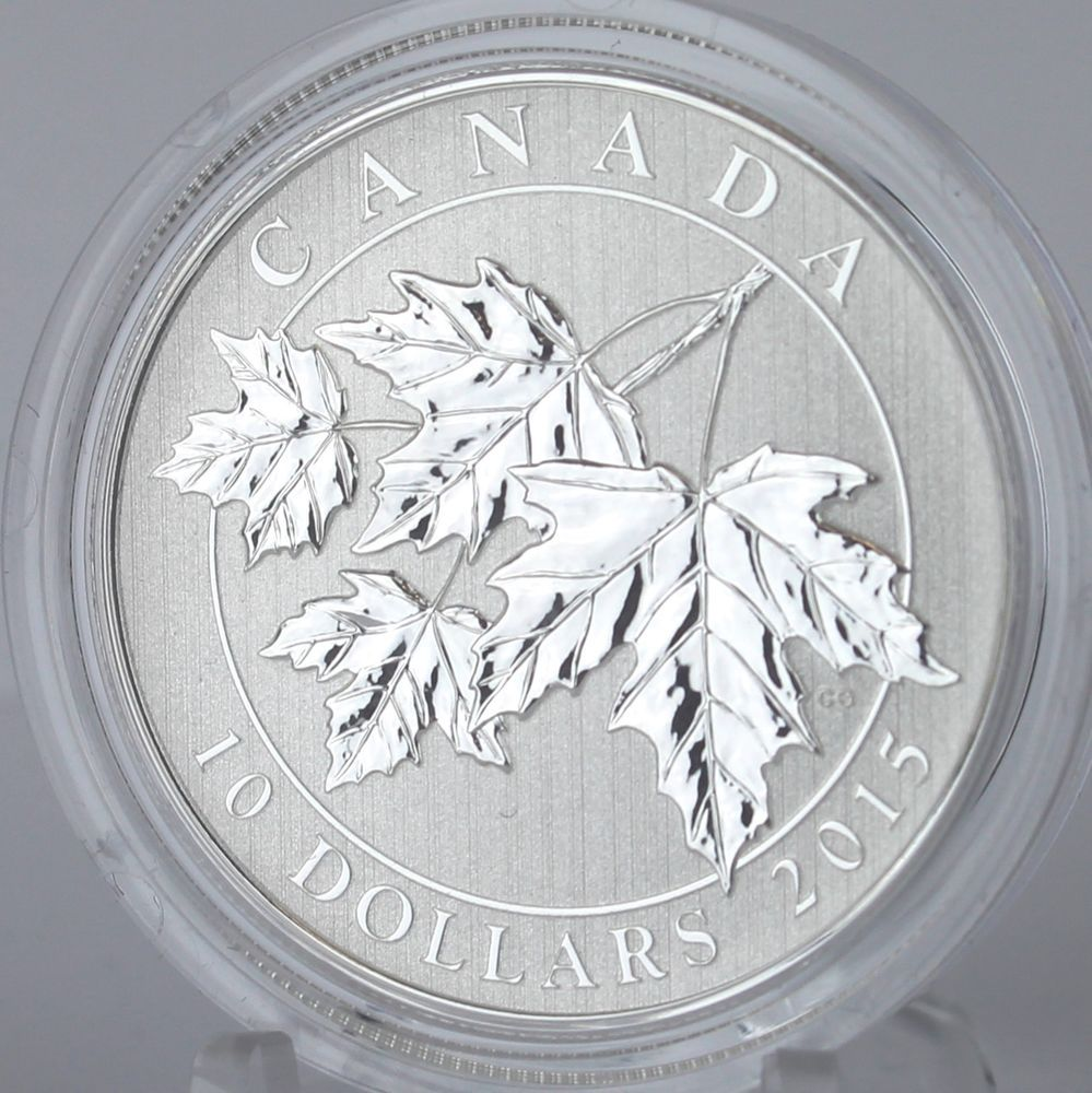 99.99/% Pure Silver Specimen Coin Canada 2018 $10 The Maple Leaf