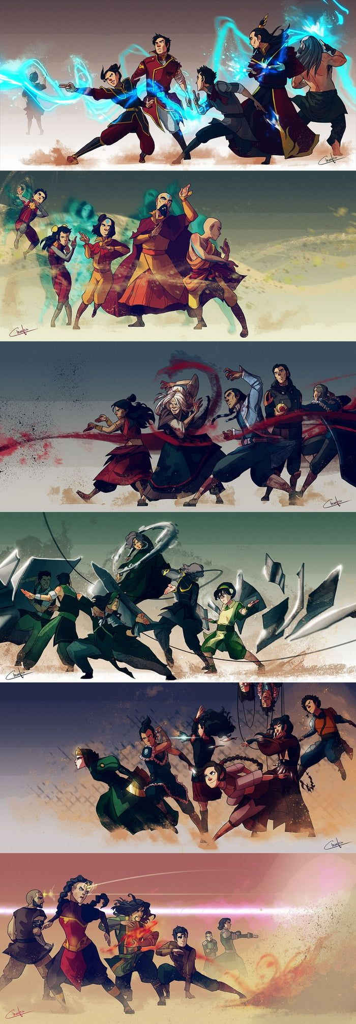 Avatar The last Airbender and The legend of Korra artwork made by Ctreuse109