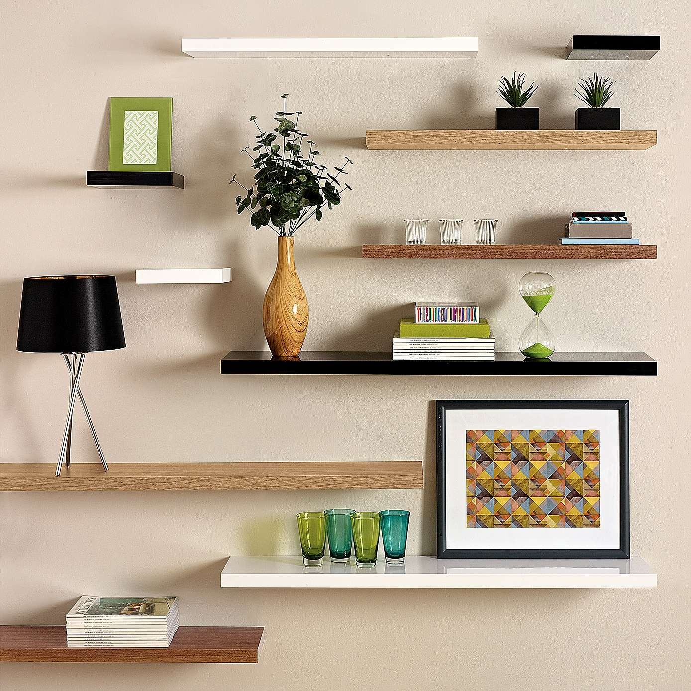 Oak Effect Floating Shelf | Dunelm