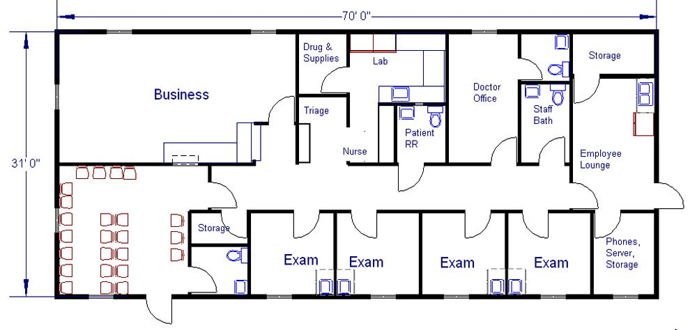 Modular Medical Clinic Office Floor Plan
