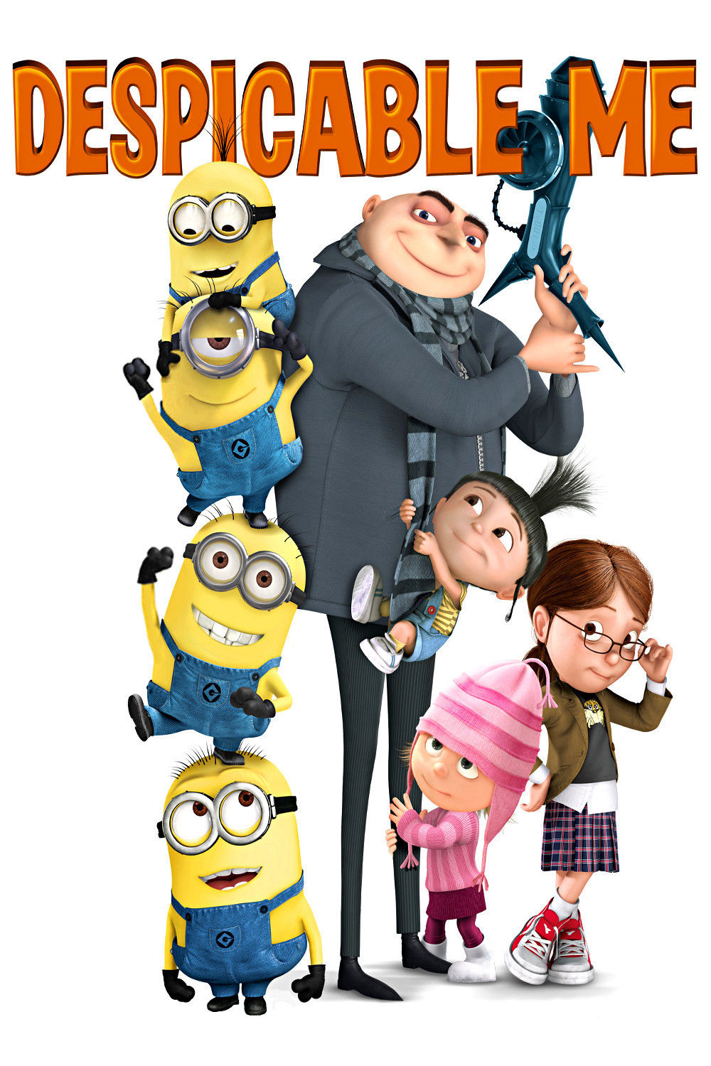 Family Happy Gru Agnes Edith And Margot And Minions