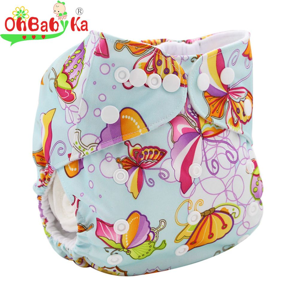 Ohbabyka banken lavables baby luierbroekje verstelbare baby doek luier cover pocket karakter herbruikbare luiers wasbare