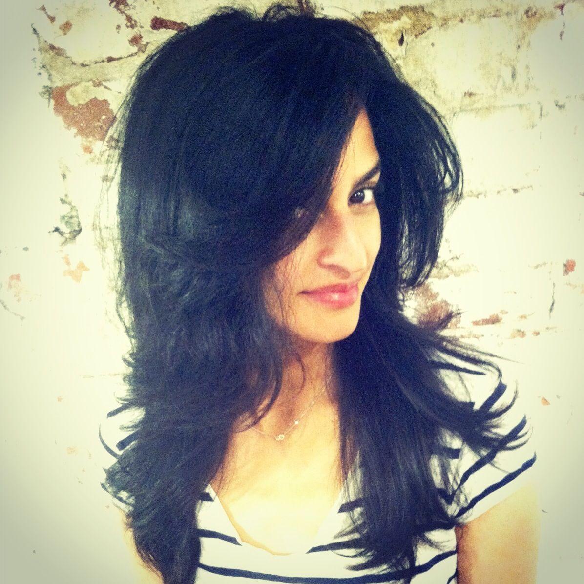 Beautiful long layer haircut and style by kristina edo salon