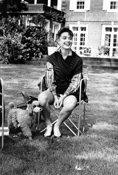 "Audrey no set de ""Sabrina"", 1953"