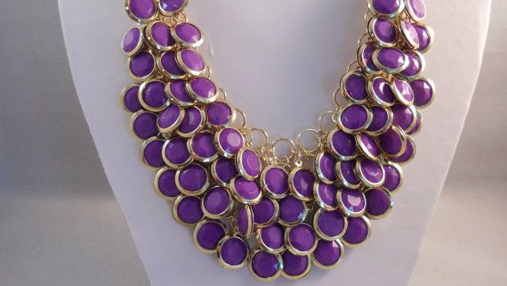 Please refer to pictures. This necklace is 18 and has a 3 extender chain. The center of the bib is 3 long.
