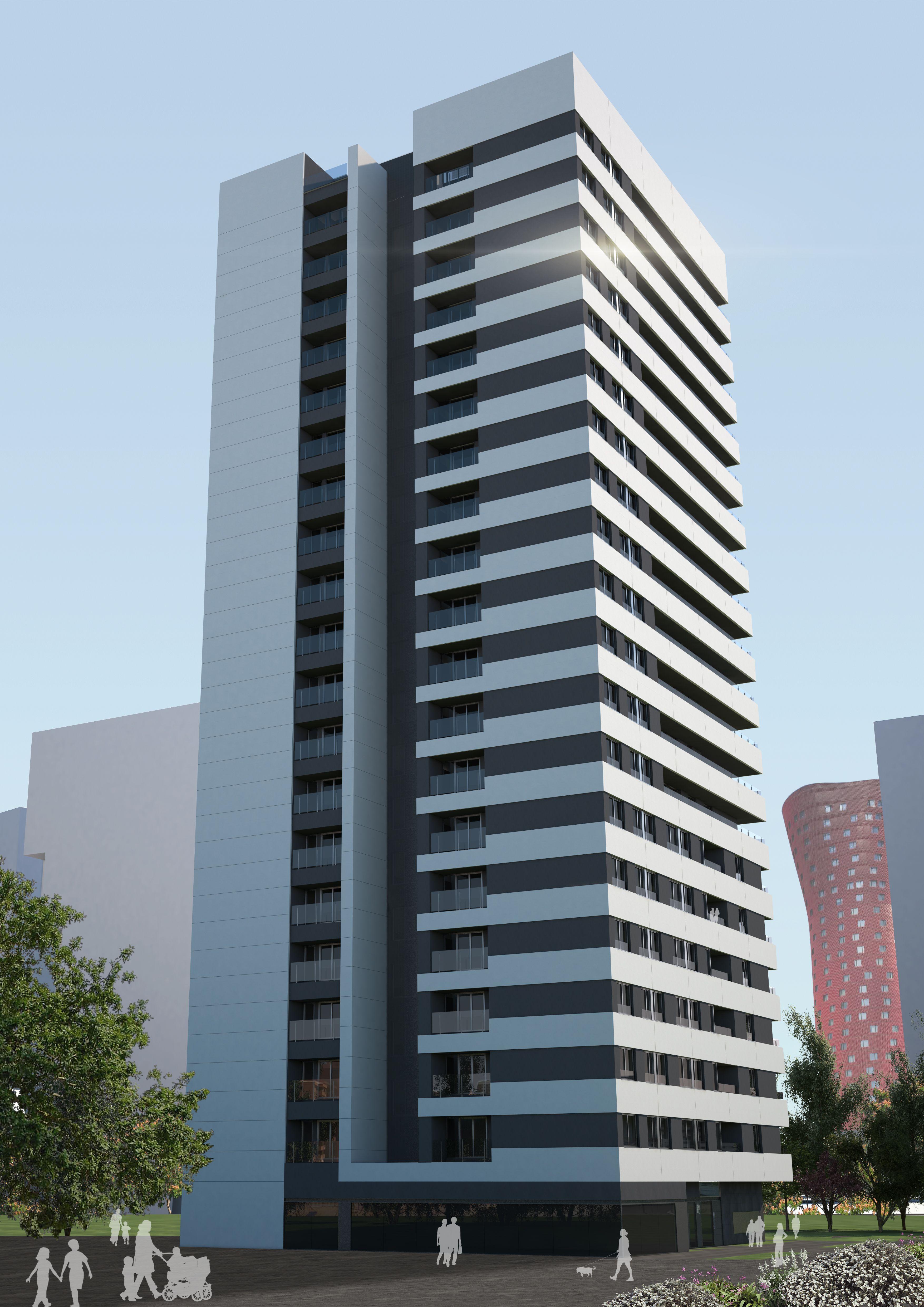 Edificoi de la promoci n de viviendas torre plaza europa for Gimnasio hospitalet
