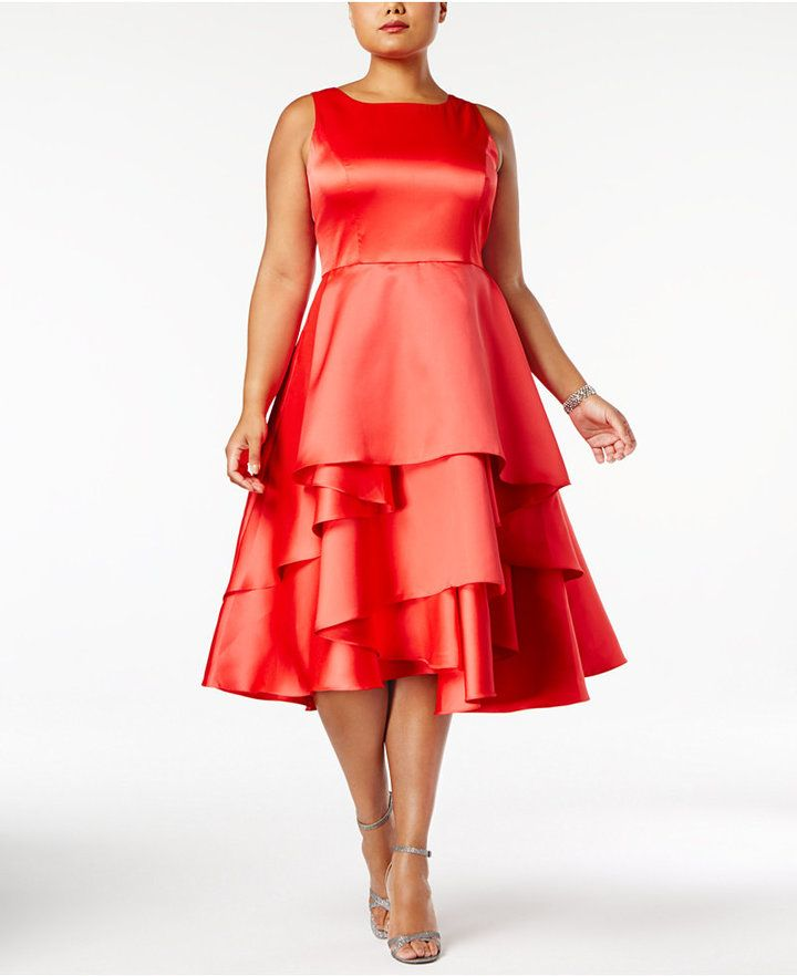 a65cce650853 Adrianna Papell Plus Size Tiered Fit & Flare Dress | Products | Plus ...