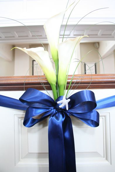 Floral Blue Ribbon Style