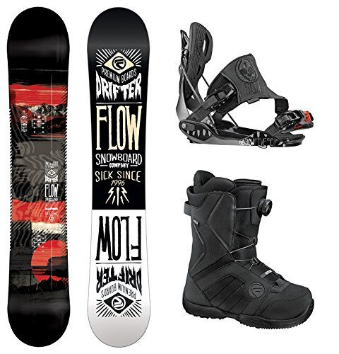 2014 FLOW Drifter Snowboard with Flow The Five SE Snowboard... - http://outdoorprosports.com/2014-flow-drifter-snowboard-with-flow-the-five-se-snowboard/