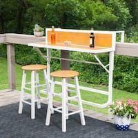 Die Balkonbar  3-teilige Möbel | Overstock.com Shopping  Die besten Angebote für Bistrosets #balconybar