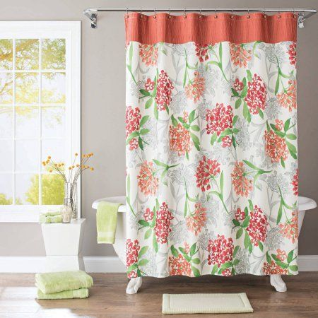 Better Homes And Gardens Watercolor Floral Fabric Shower Curtain, Multicolor