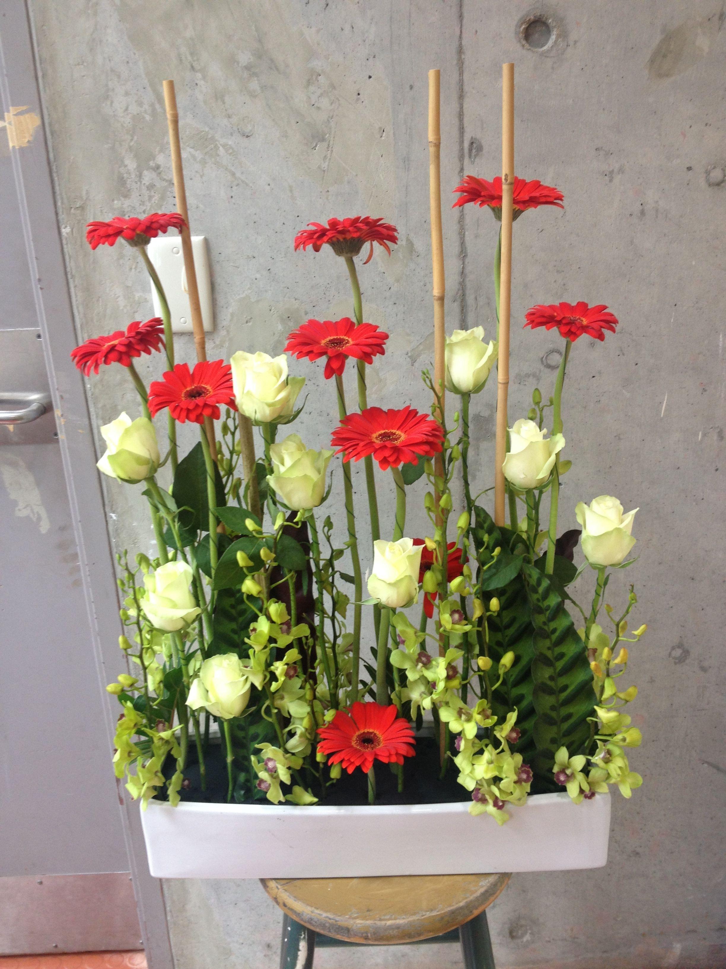 Floral Arrangements Vertical Parallel Arrangement