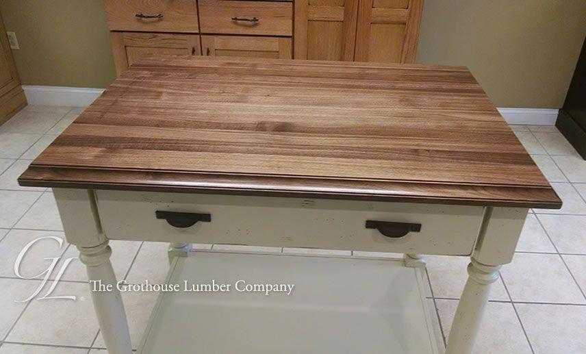 Custom Walnut Wood Display Top in Pennsylvania 1090