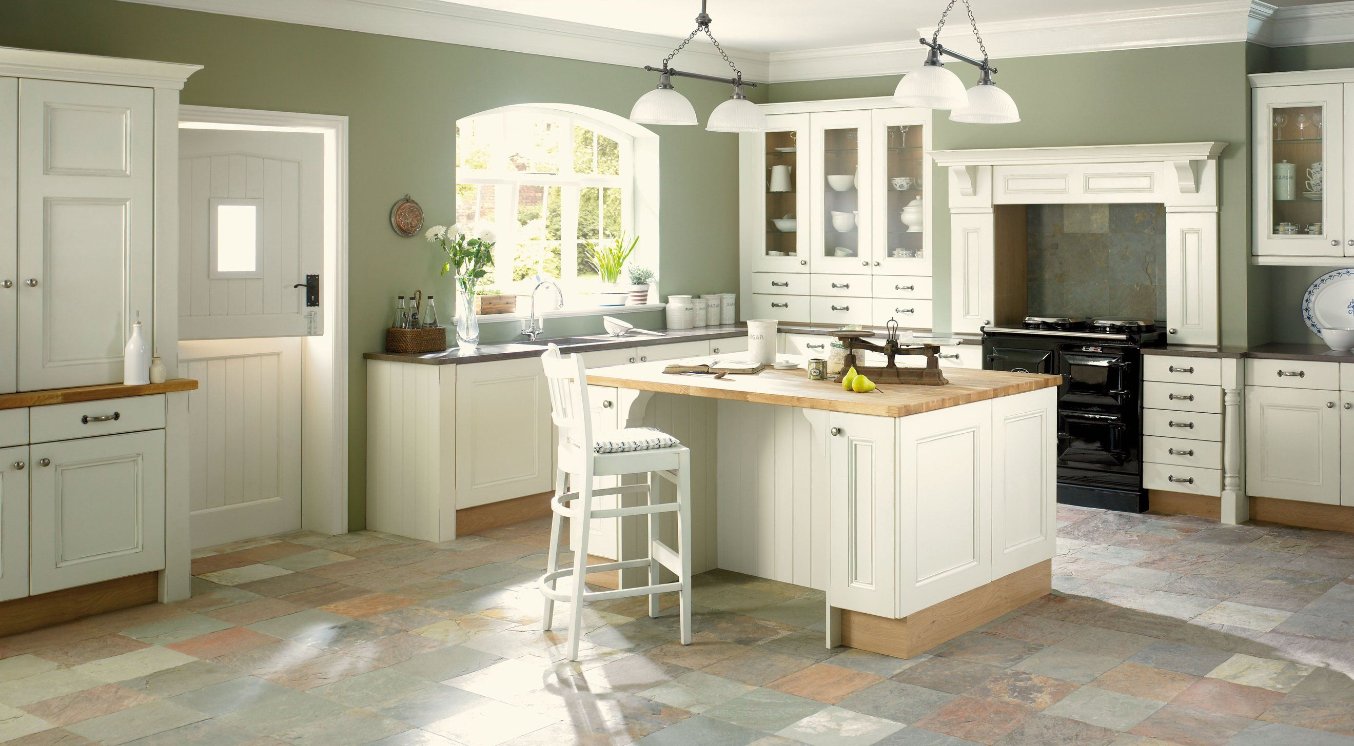 kitchen-colors-with-white-cabinets-and-black-countertops-cottage ...