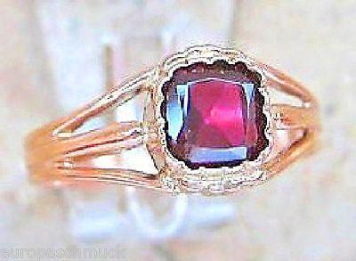 ■Granat Schmuck Gold Ring mit Granat Ring Antik aus Rotgold Ring