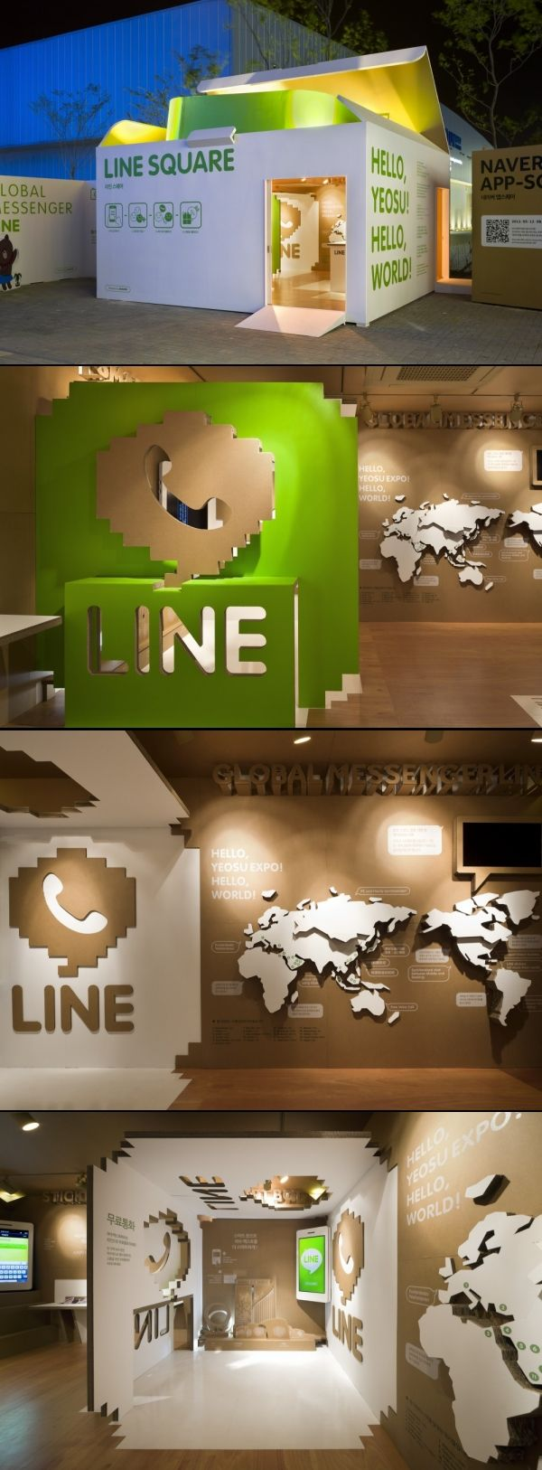 Naver Line Square Exhibition Booth Design Exhibition Stand Design Environmental Design