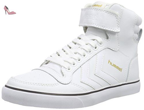 hummel Slimmer Stadil Smooth Canvas, Sneakers Hautes Mixte Adulte, Rouge (Sassafras), 44 EU