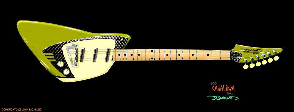 Backlund Katalina 700 electric guitar by John Backlund at Coroflot.com