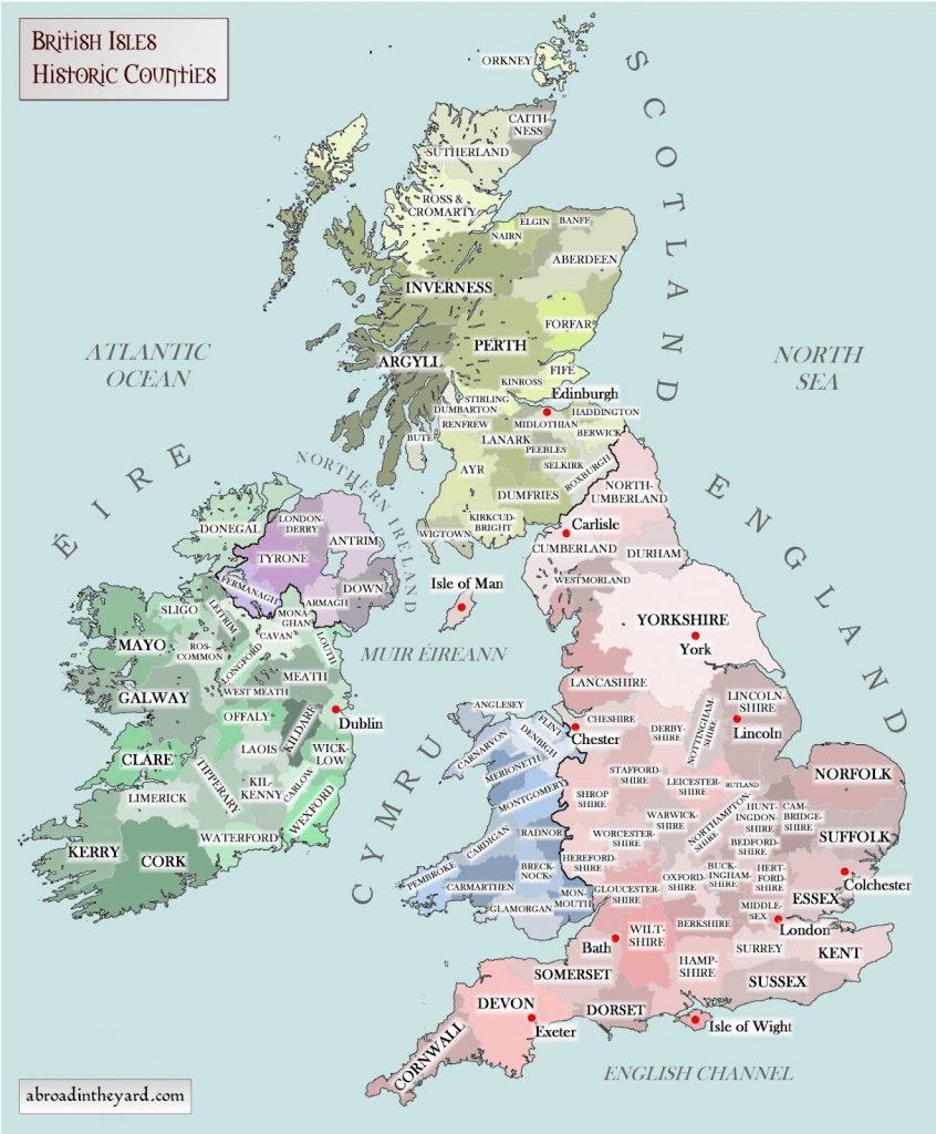 British Isles: Historic Counties #britishisles
