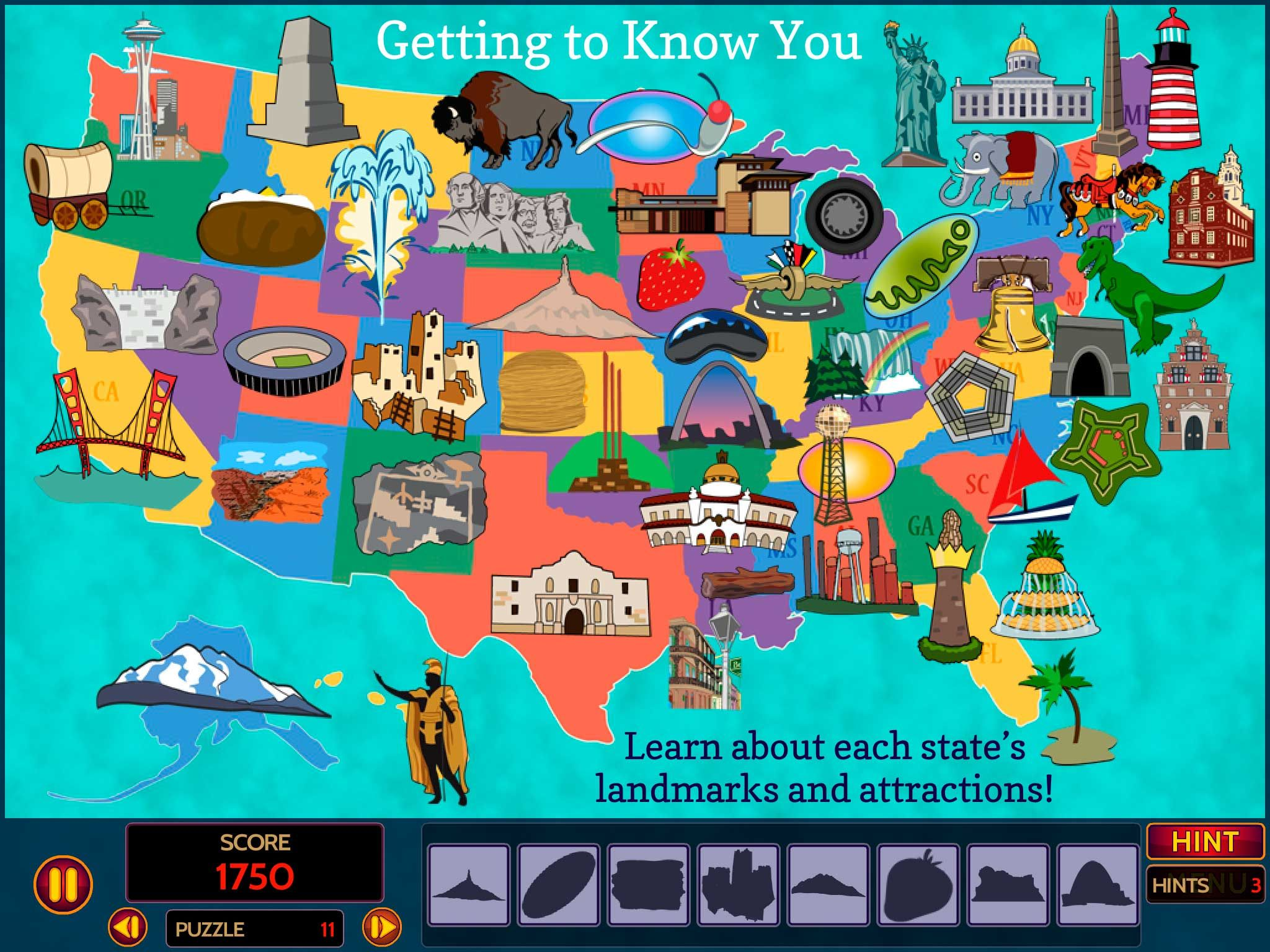 United States Landmarks Art Kids app, Homeschool apps