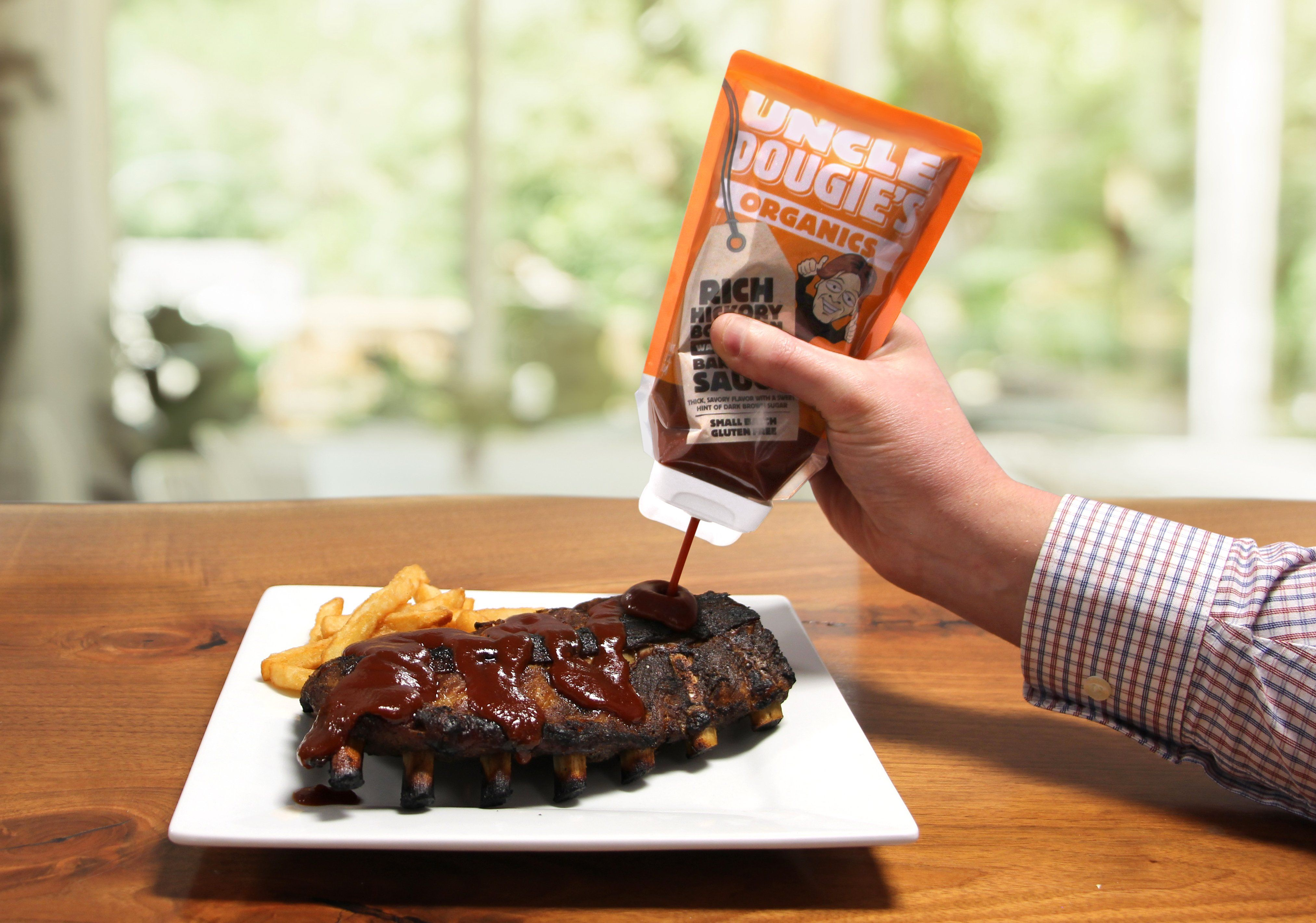 Inverted Pouch for BBQ Sauce a First for the Category