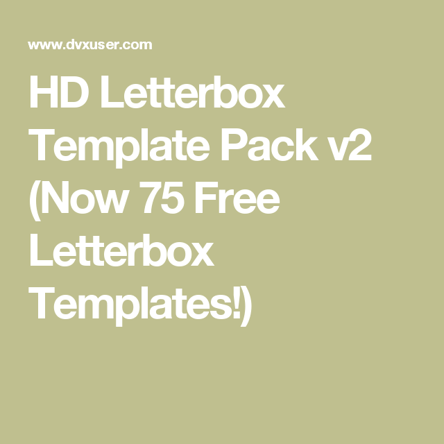 Hd letterbox template pack v2 now 75 free letterbox templates hd letterbox template pack v2 now 75 free letterbox templates spiritdancerdesigns Choice Image