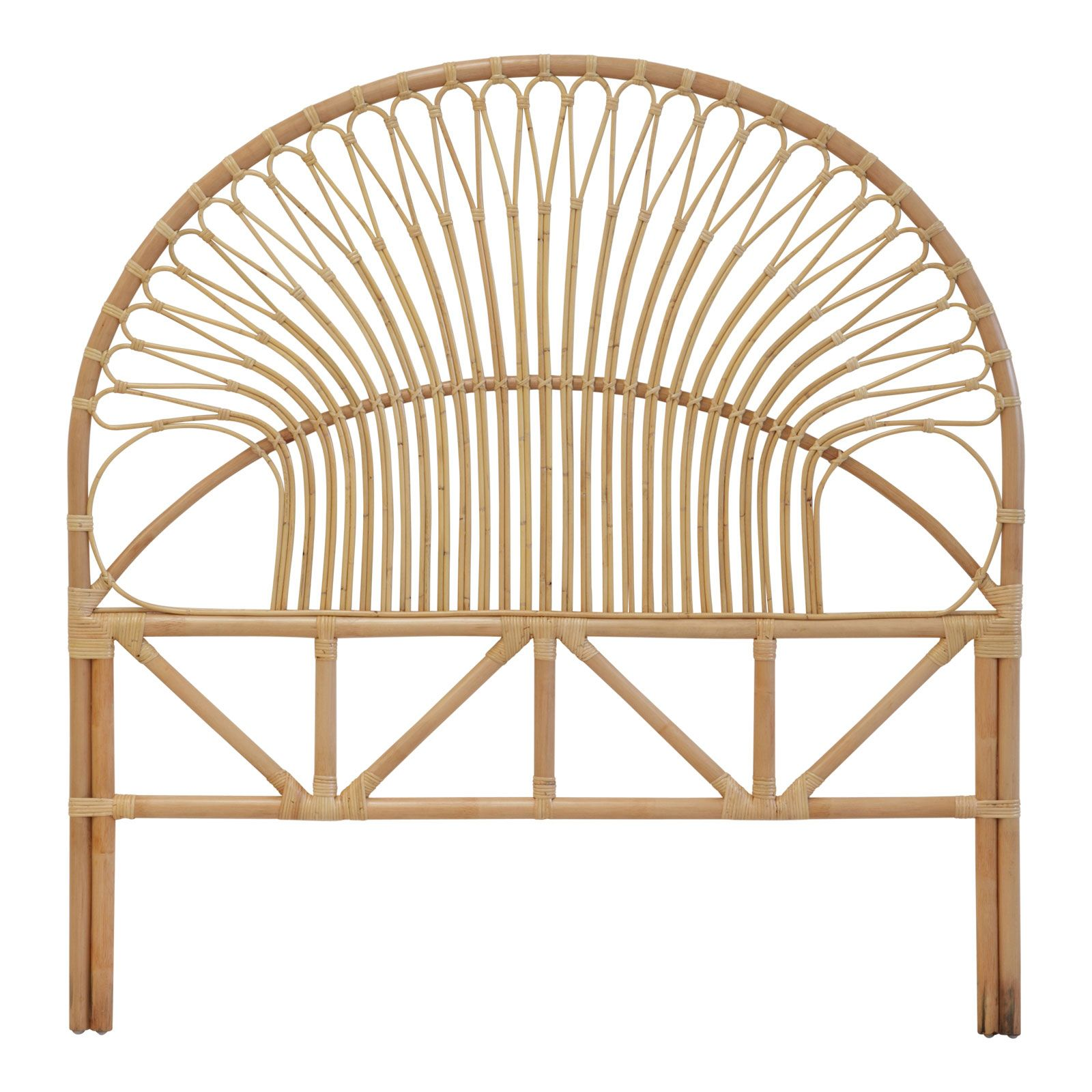399 king Rattan headboard, Open frame headboard, Rattan bed