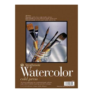 Strathmore 400 Series Cold Press Watercolor Paper: 9 x 12 inch Pad