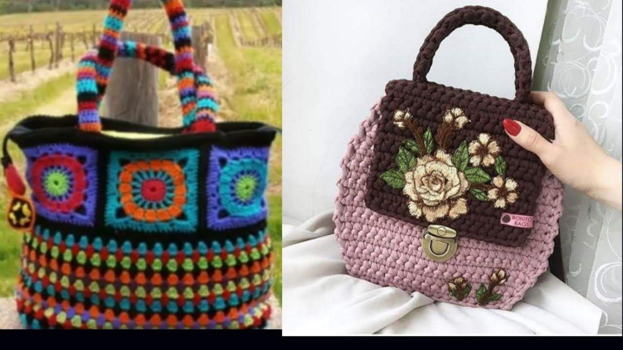 A beautifull handmade crochet clutch bag