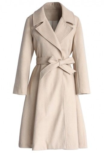 Grace Hooded Belted Wool Coat | Boohoo