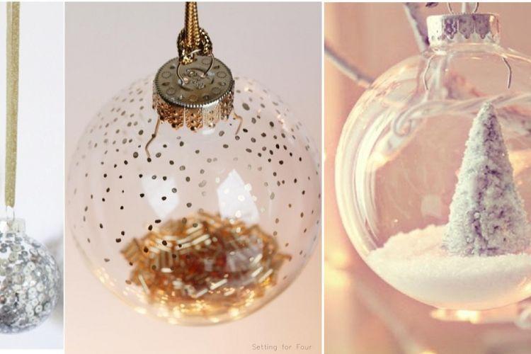 33 façons originales de décorer des boules Noël en verre! | Boule