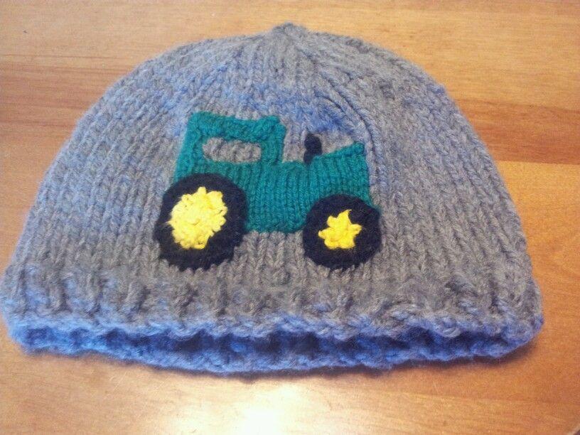 4089ee6c86e Knit John Deere Tractor Hat