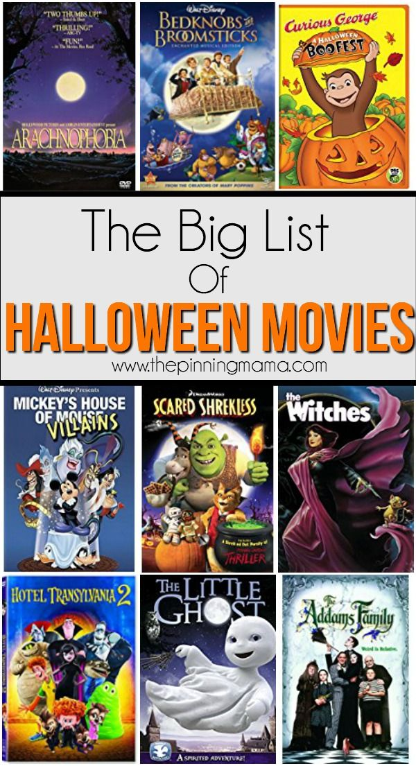BEST list of Halloween movies for kids ♥ Favorite Finds