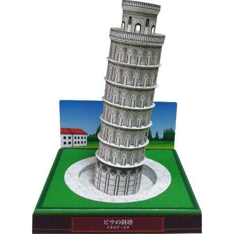 イタリア ピサの斜塔,建物,ペーパークラフト,ヨーロッパ