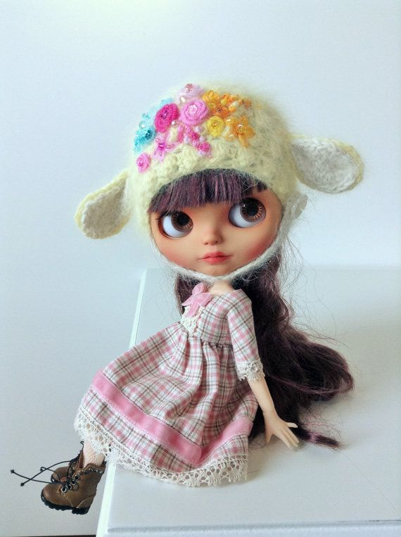 Blythe Hat Precoius Flowers Collection by Lilleprincesse on Etsy