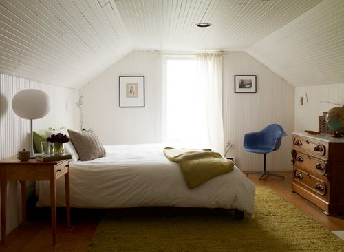 I Love All The Beadboard And How Attic This Feels Quality Bedroom Furniture Slanted Ceiling Bedroom Perfect Bedroom