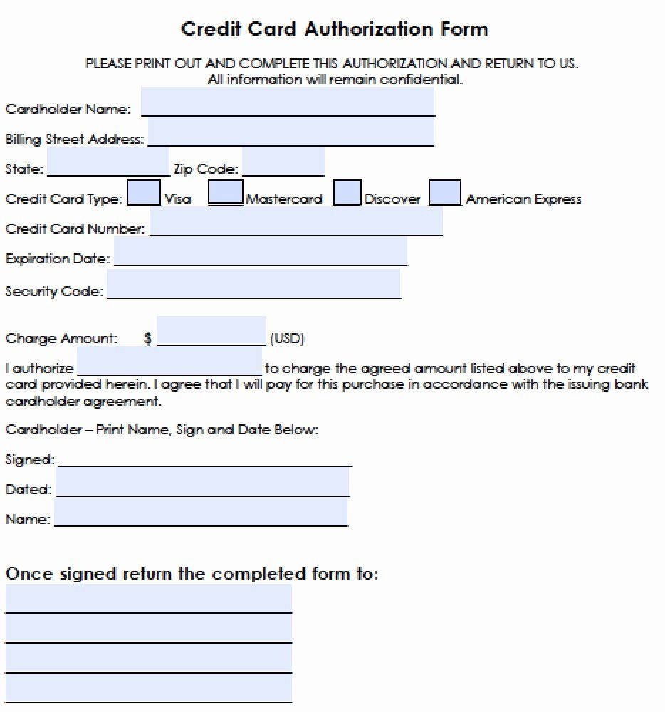 Credit Card Template Word Lovely Download Generic Credit Card Authorization Forms Wikidownload Credit Card Online Credit Card Credit Card Info