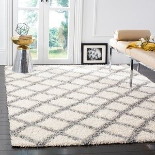 Safavieh Dallas Shag Ivory Grey Trellis Large Area Rug 10 X 14 10 X 14 Ivory Grey Rugs Cool Rugs Area Rugs