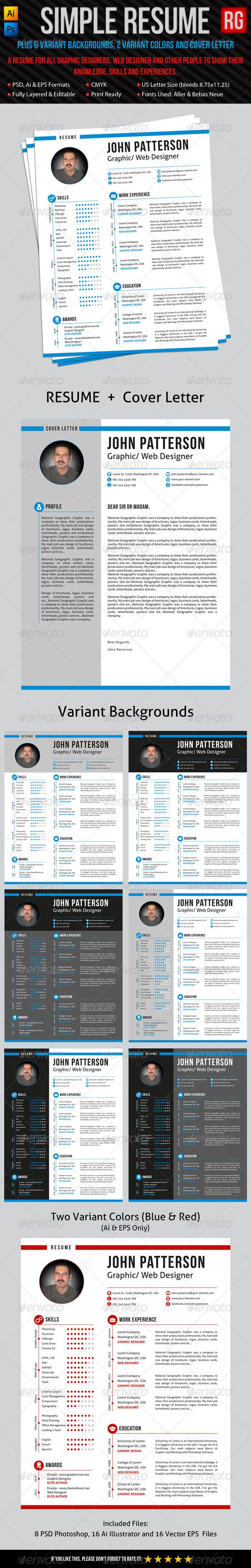 Simple Resume | Simple resume, Cv resume template and Cover letter ...