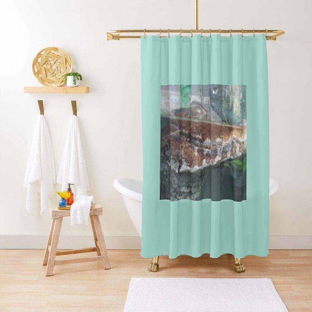 Alligator Shower Curtain By Erinv9258 In 2020 Black Shower
