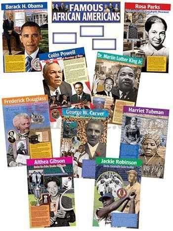 Famous African Americans Bb Set | by TeachersParadise.com | Teacher Supplies & School Supplies