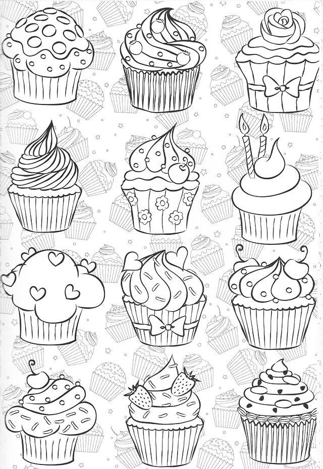 Black And White Cupcake With Sprinkles Geburtstagskalender 13