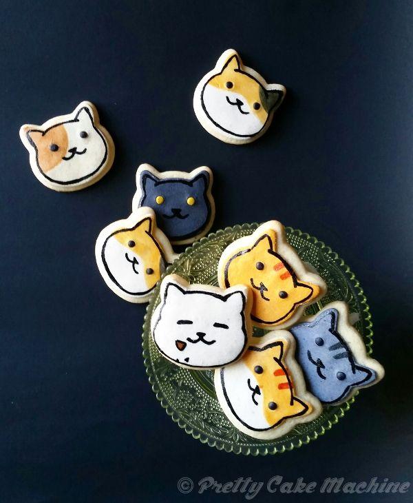 Recipes/Tutorials: Neko Atsume butter cookies!