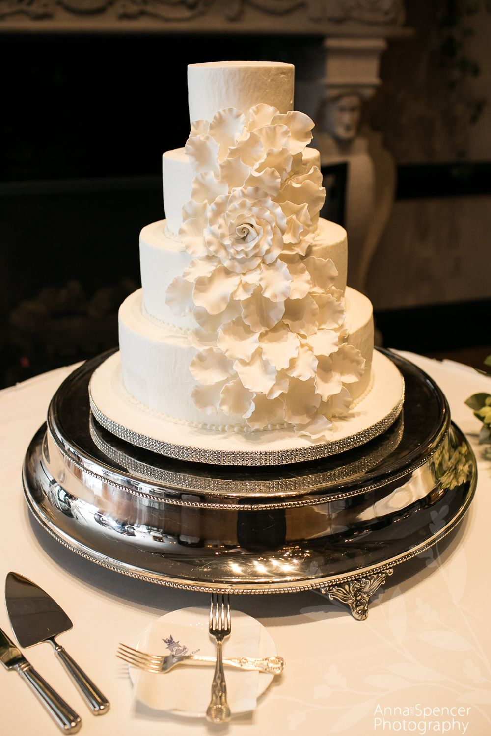 Wedding Cake With Large Fl Pattern By Clic Cheesecakes And Cakes Bakery
