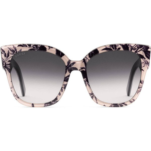3b18ef1b43 Gucci Square-Frame Acetate Sunglasses With Web ( 595) ❤ liked on Polyvore  featuring accessories