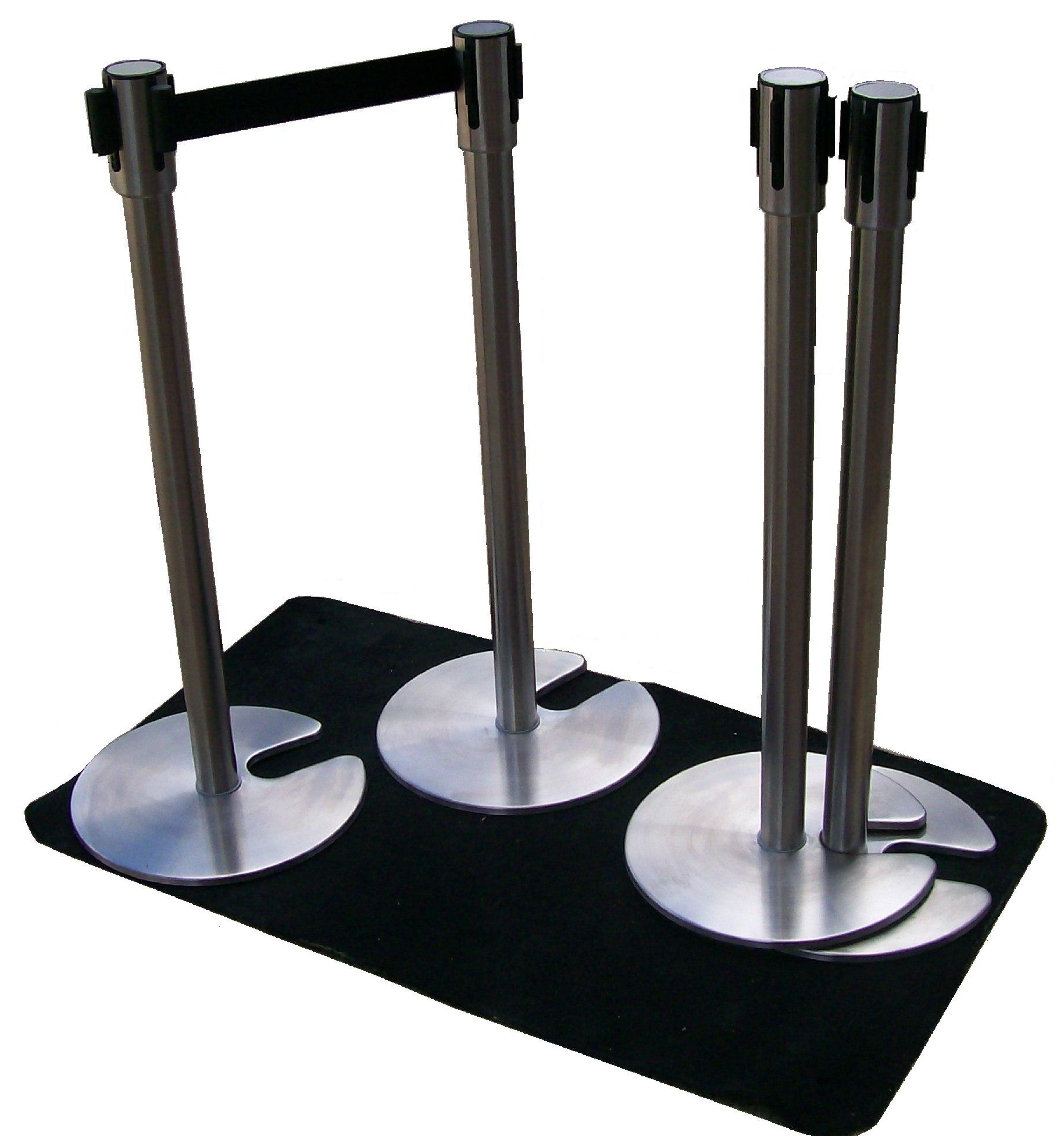 Crowd control stands specially designed to save storage