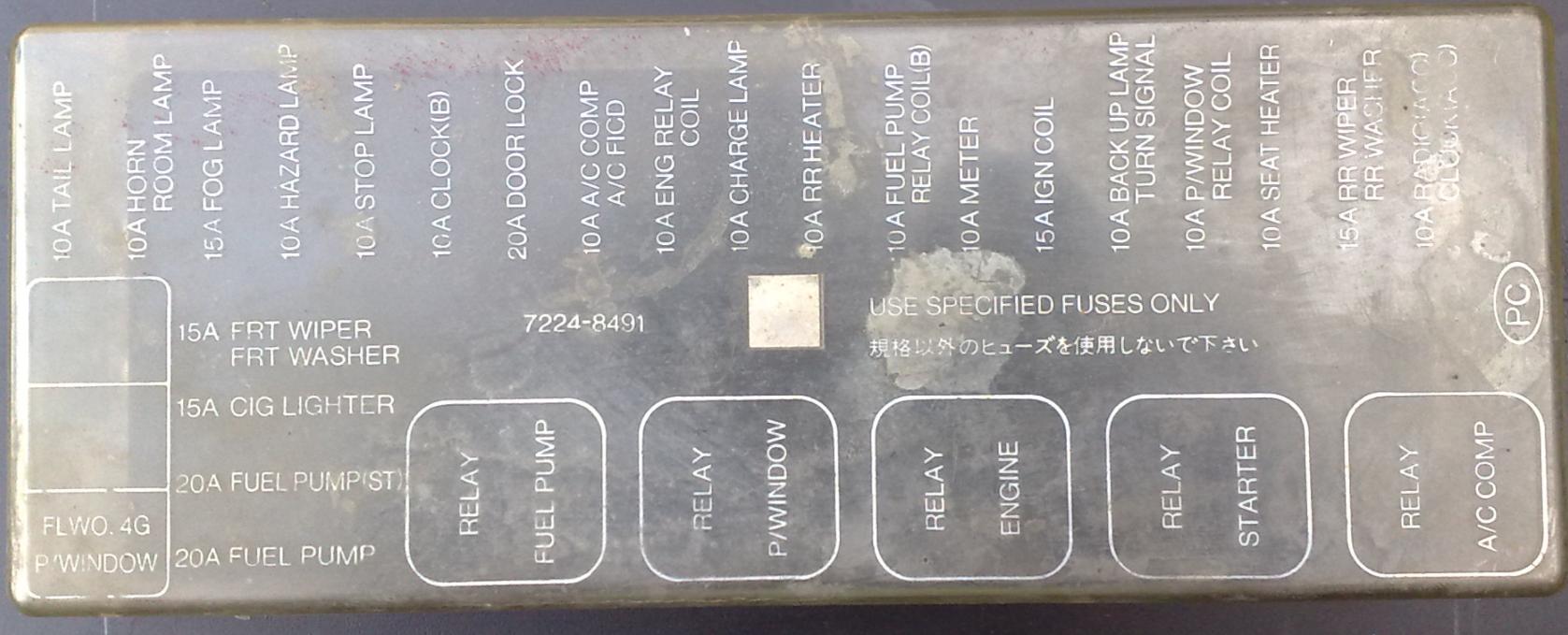 Isuzu Trooper UBS40 Fuse Box   Fuse box, Washer, Heater